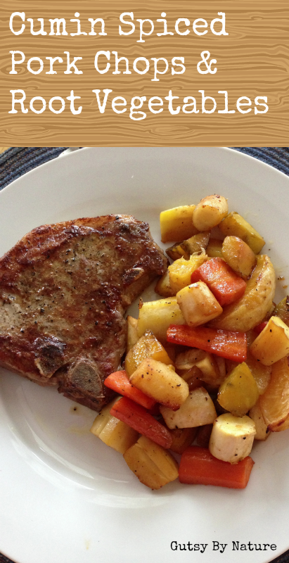 Cumin Spiced Pork Chops & Root Vegetables