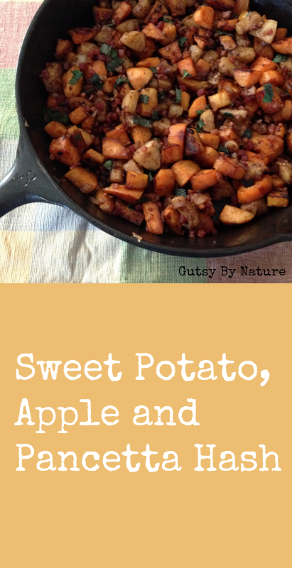 Sweet Potato Apple and Pancetta Hash
