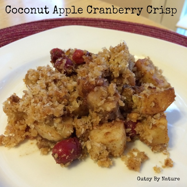 Coconut Apple Cranberry Crisp