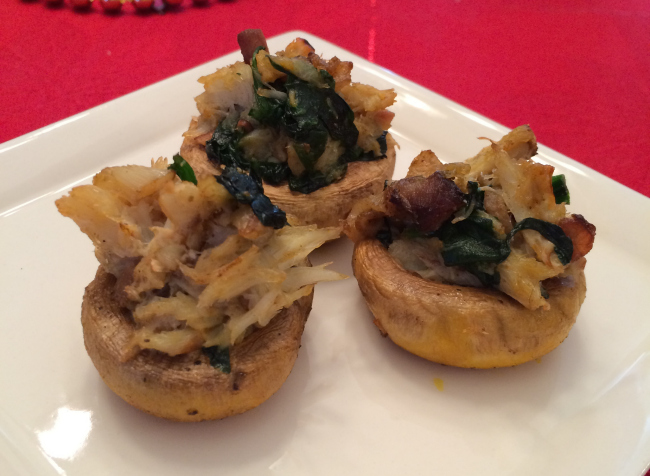 Paleo Crab Stuffed Mushrooms - Gutsy By Nature