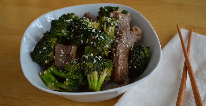 Garlic & Ginger Beef with Broccoli 2