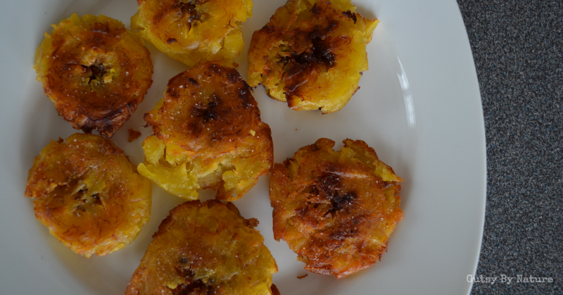 Tostones - Fried Green Plantains - Gutsy By Nature